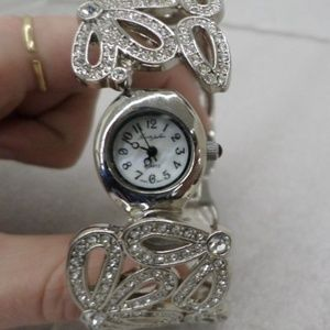 Sparkling KENNETH JAY LANE Hinged Bracelet Watch